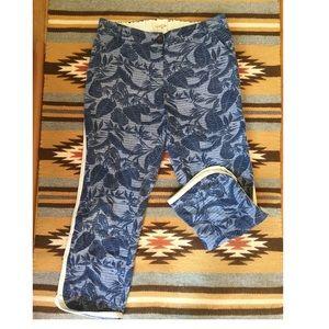 Pants - Bridge & Burn Tropical Print Denim Pants SM